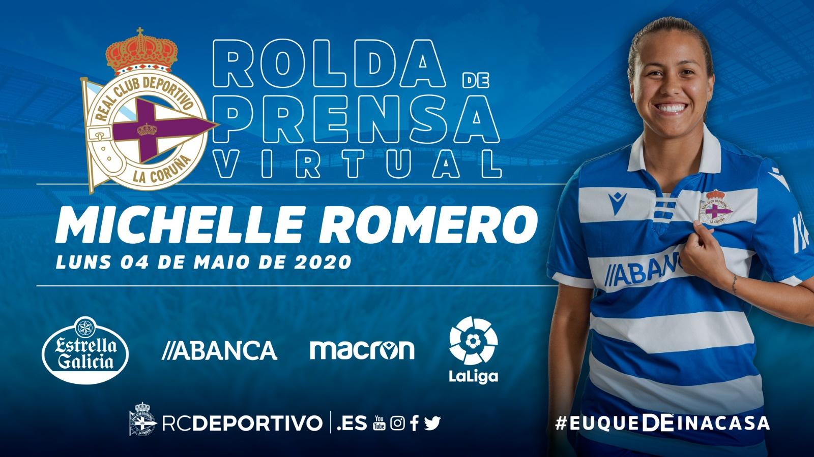 Michelle Romero en rolda de prensa virtual | RCD