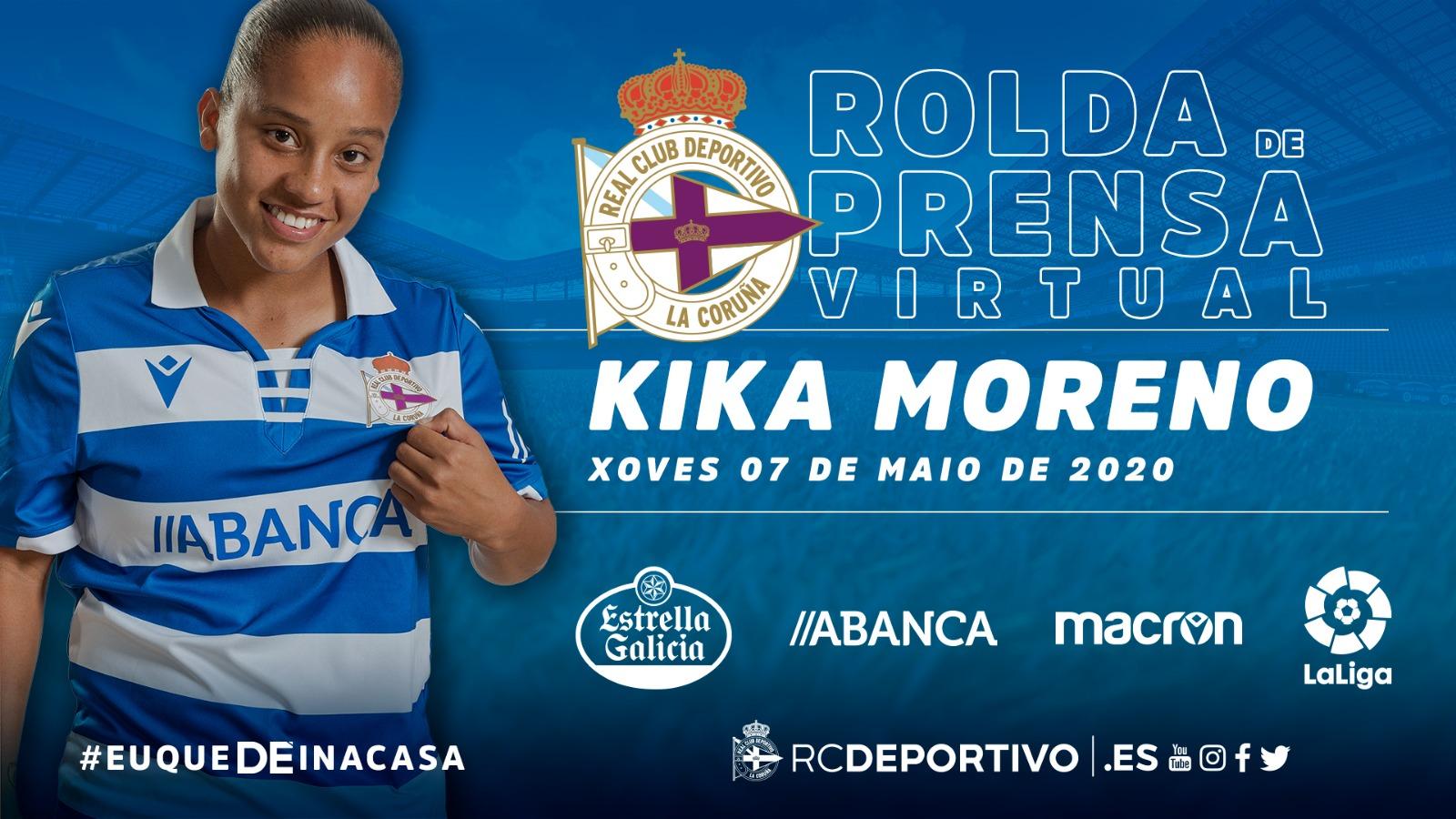 Kika en rolda de prensa virtual | RCD