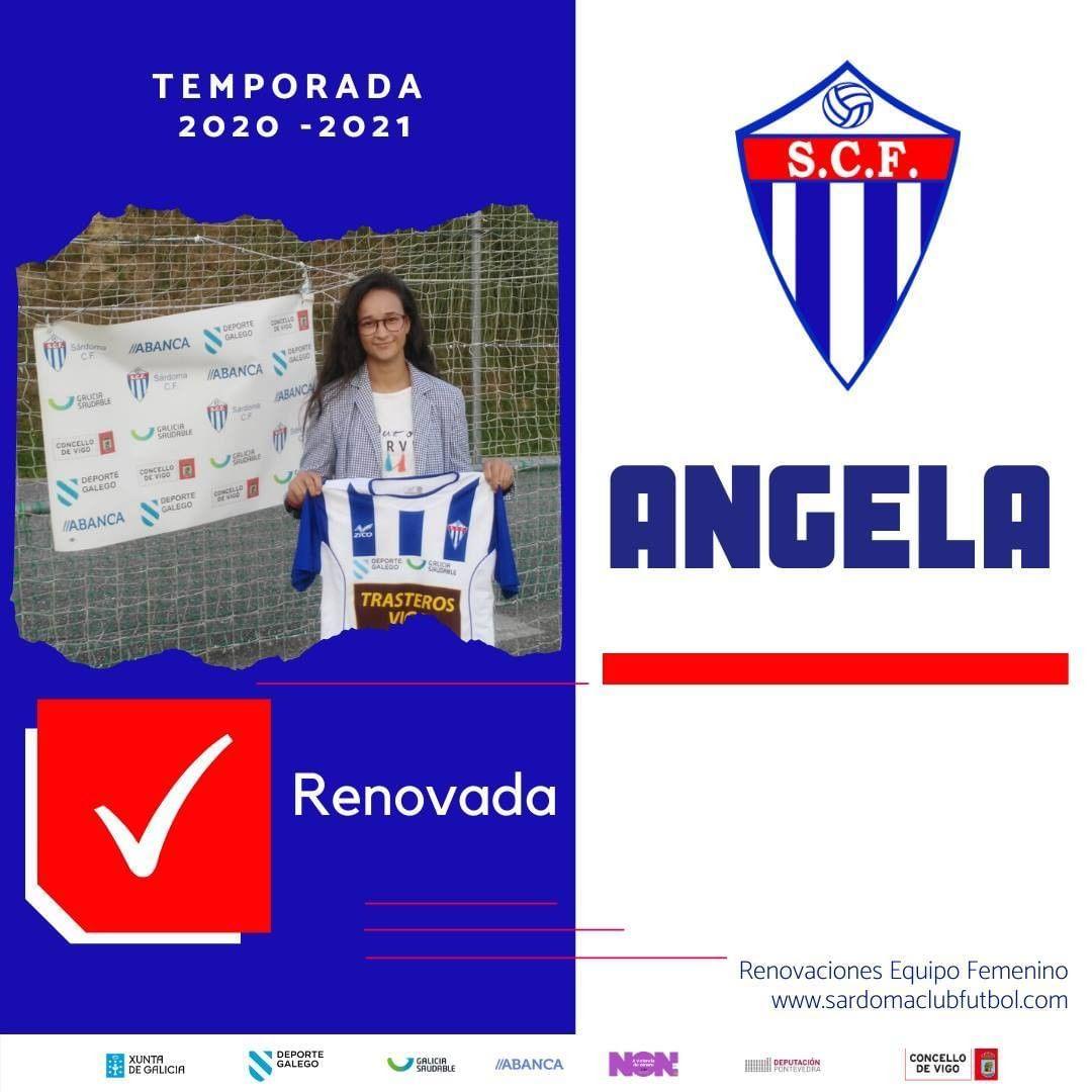 Ángela, xogadora do Sárdoma CF