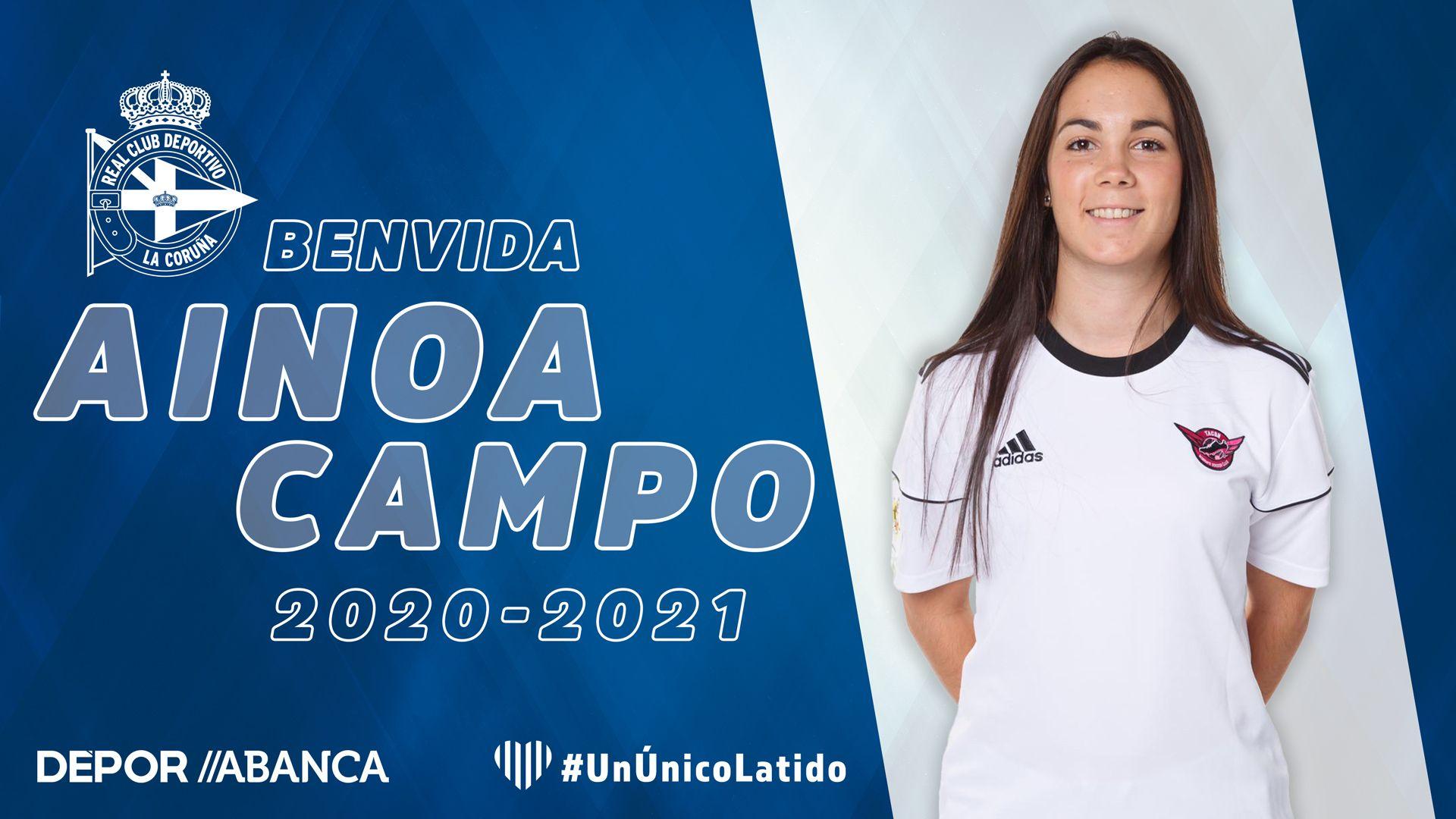 Ainoa Campo, xogadora do Dépor ABANCA | RCD