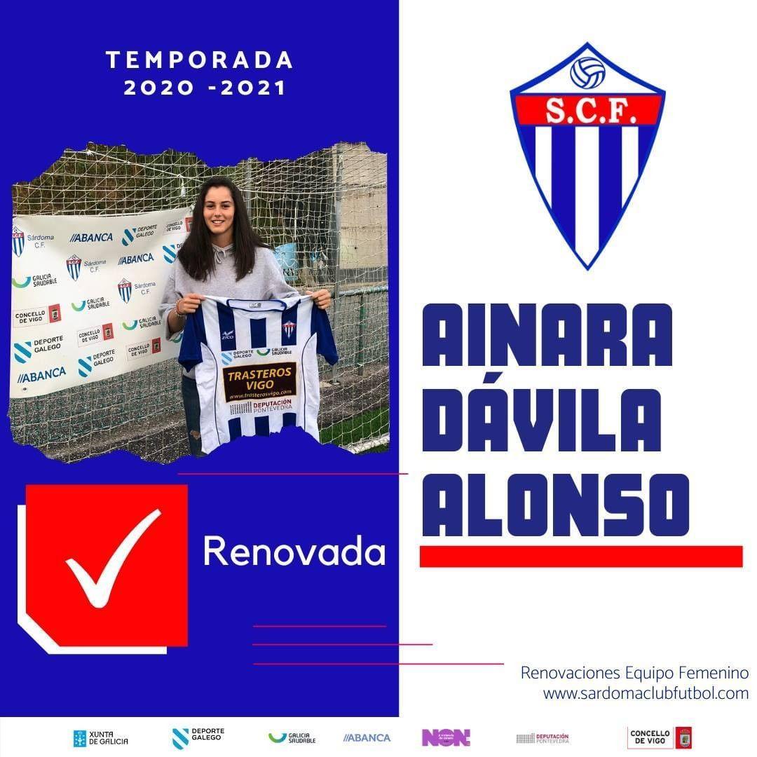 Ainara Dávila Alonso, xogadora do Sárdoma CF