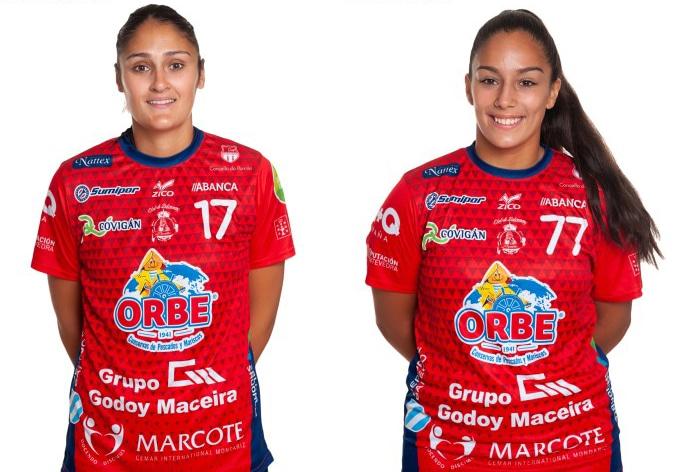 Alicia Campo e Alba Dapena, xogadoras do Conservas Orbe