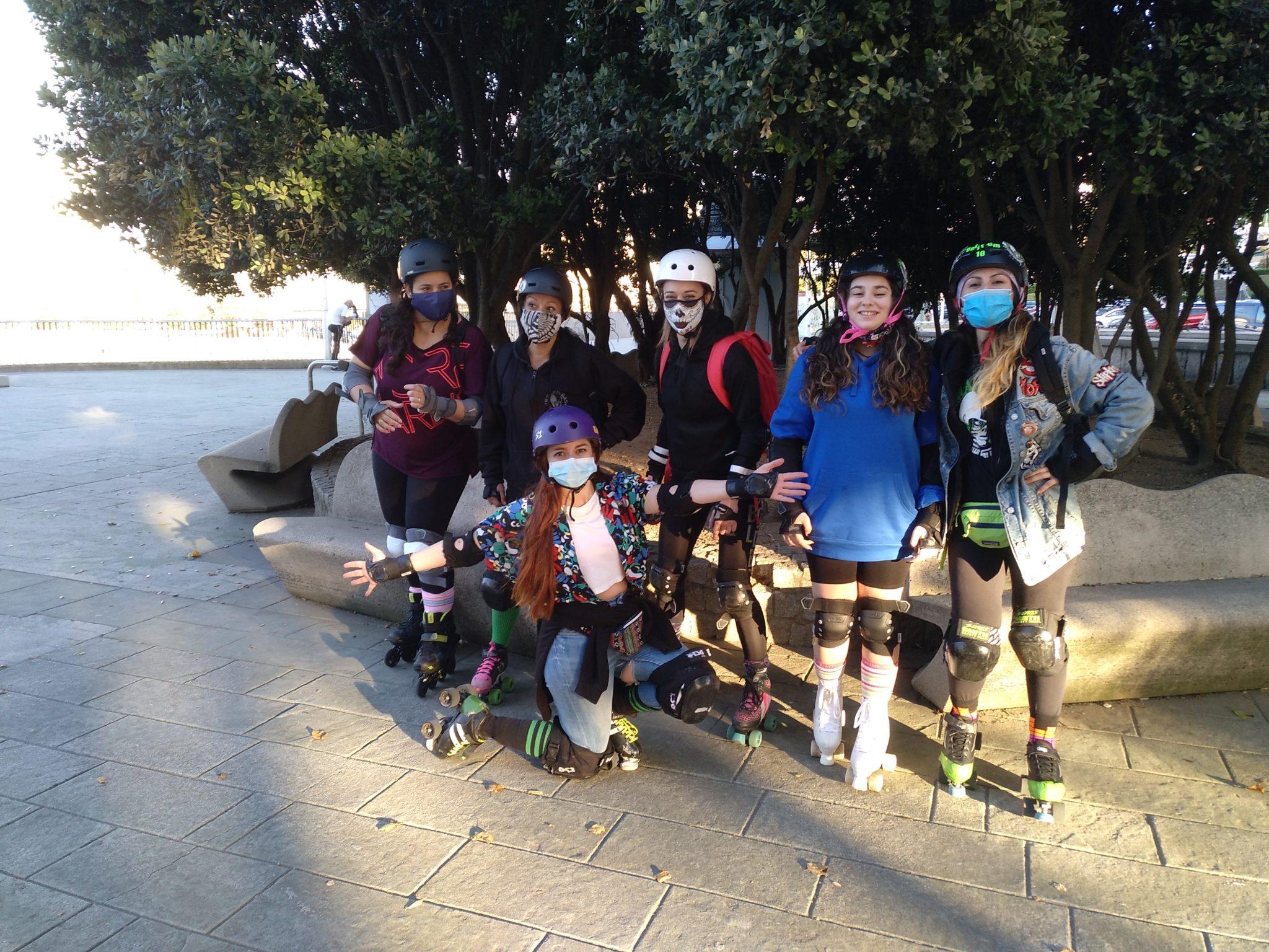 Ruta organizada polo Roller Derby Irmandiñas Coruña o 19 de xuñoº