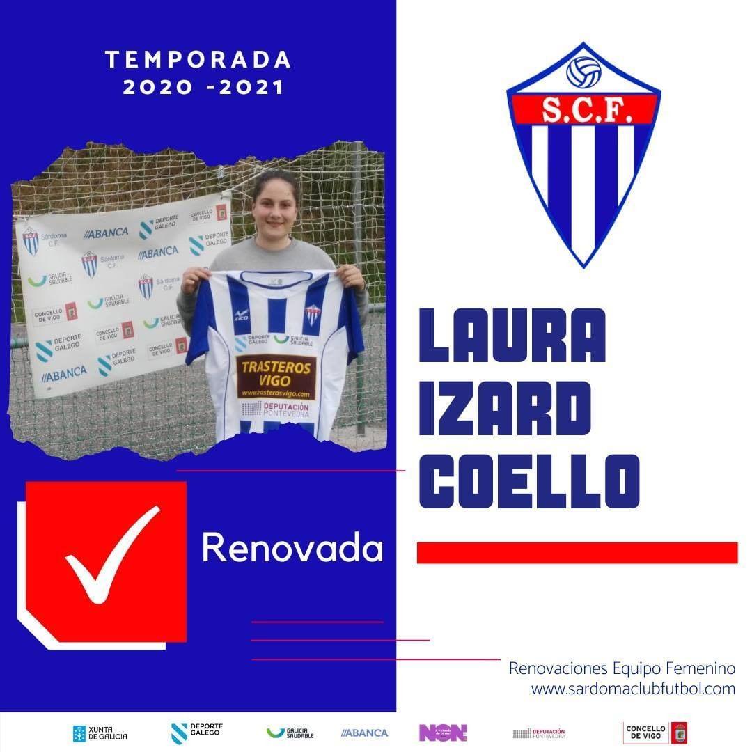 Laura Izard Coello, xogadora do Sárdoma CF