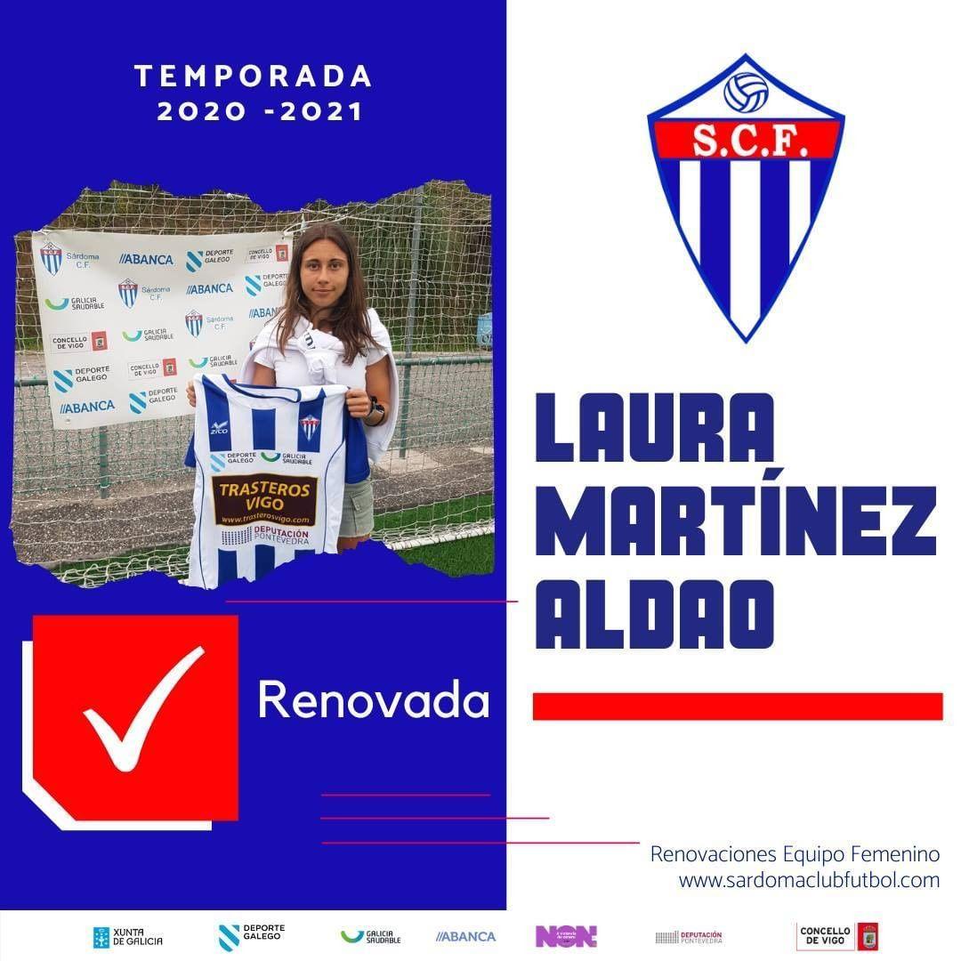 Laura Martínez Aldao, xogadora do Sárdoma CF