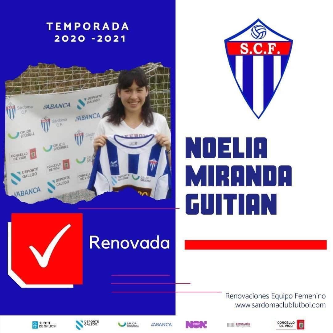 Noelia Miranda Guitián, xogadora do Sárdoma CF