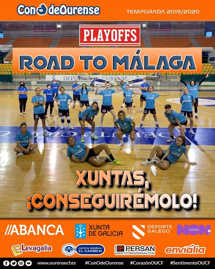 O Ourense Envialia FSF xogará este fin de semana o seu primeiro playoff polo título de Primeira División de Fútbol Feminino : OURENSE ENVIALIA FSF