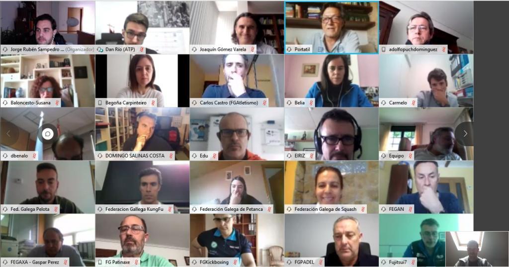 Reunión virtuais coas 58 federacións - Xunta
