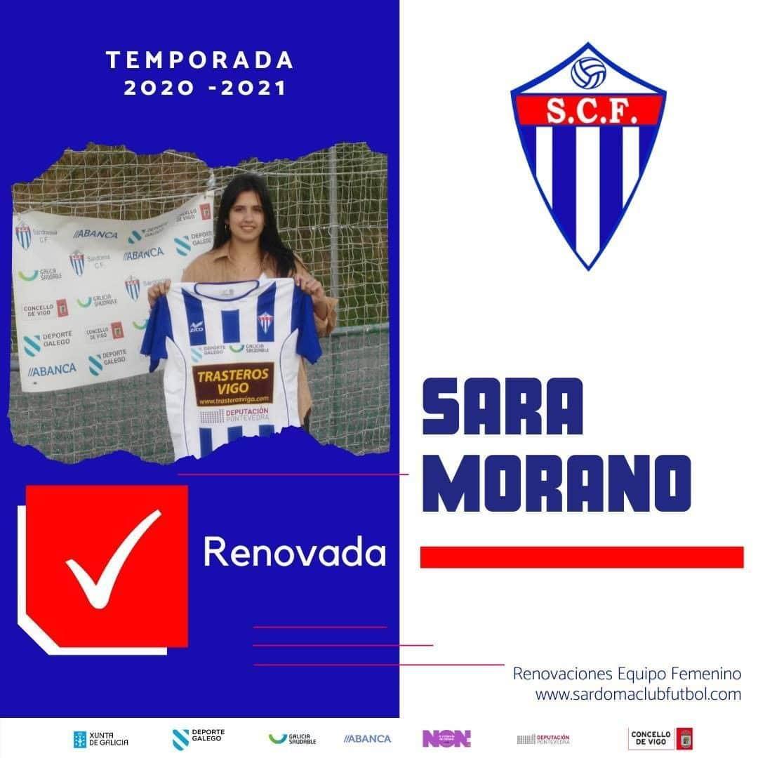 Sara Morano, xogadora do Sárdoma CF