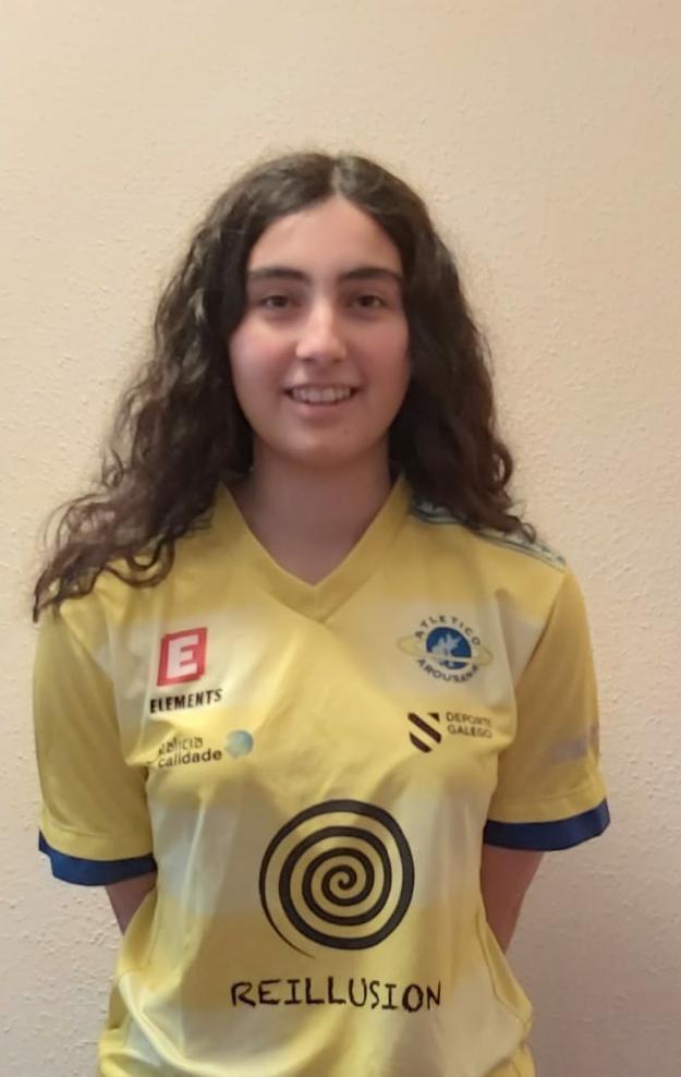Almudena Agra, xogadora do Atlético Arousana - AA