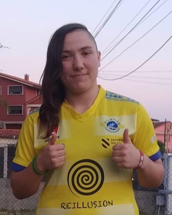 Miriam Ríos, xogadora do Atlético Arousana - AA