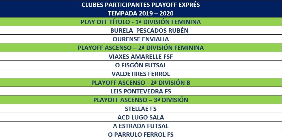 playoffs express - Futgal