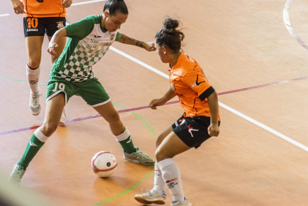 Final do playoff de ascenso a Primeira División Feminina de Fútbol Sala entre o Amarelle e o Valdetires