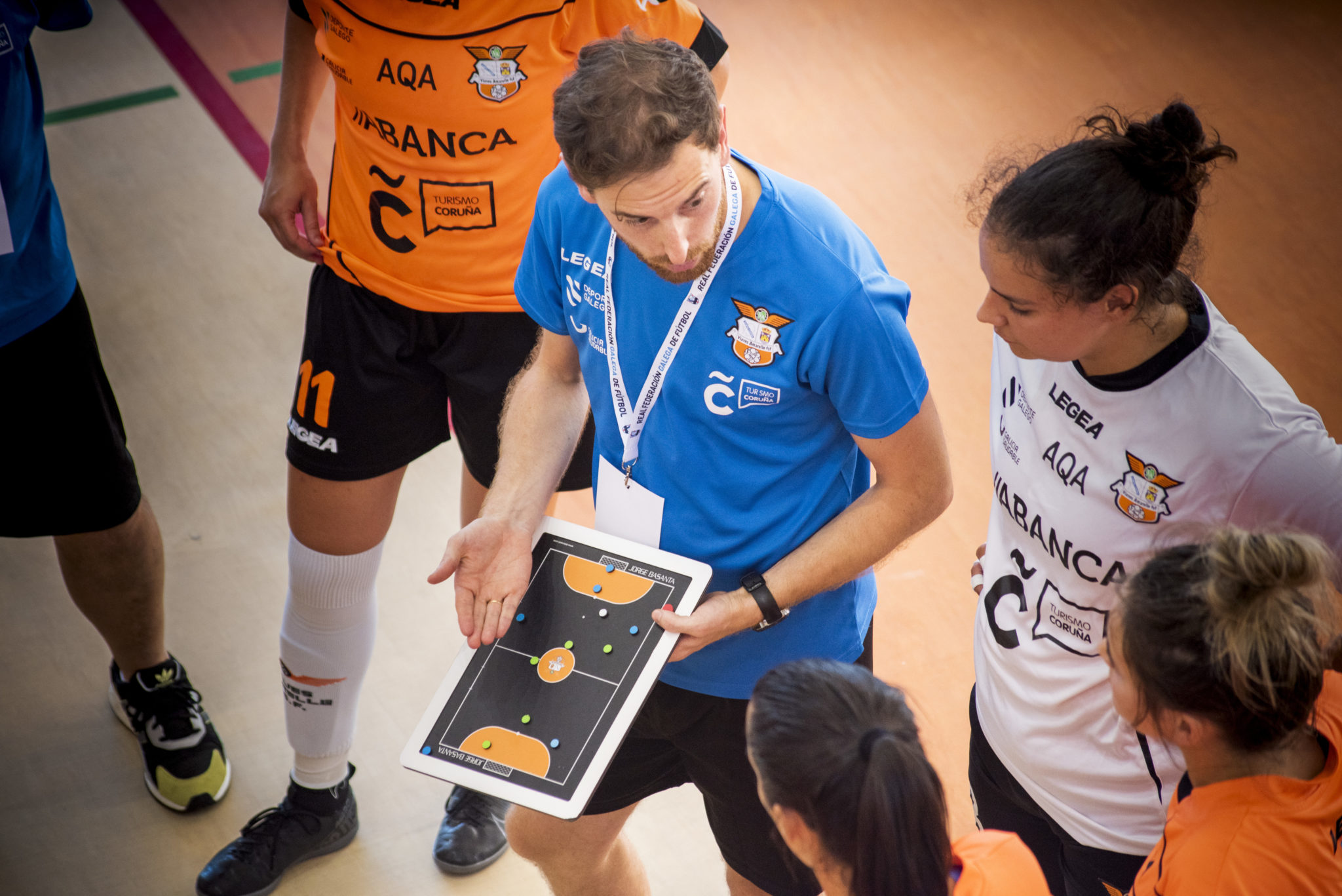 Jorge Basanta, adestrador do Amarelle FSF / Íñigo Rolán