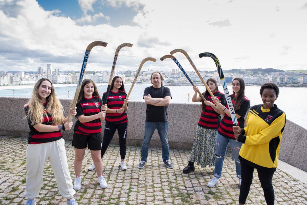 HC Borbolla, equipo de hoceky patíns de Coruña, que ascendeu a OK Liga, adestrado por Santi Martínez
