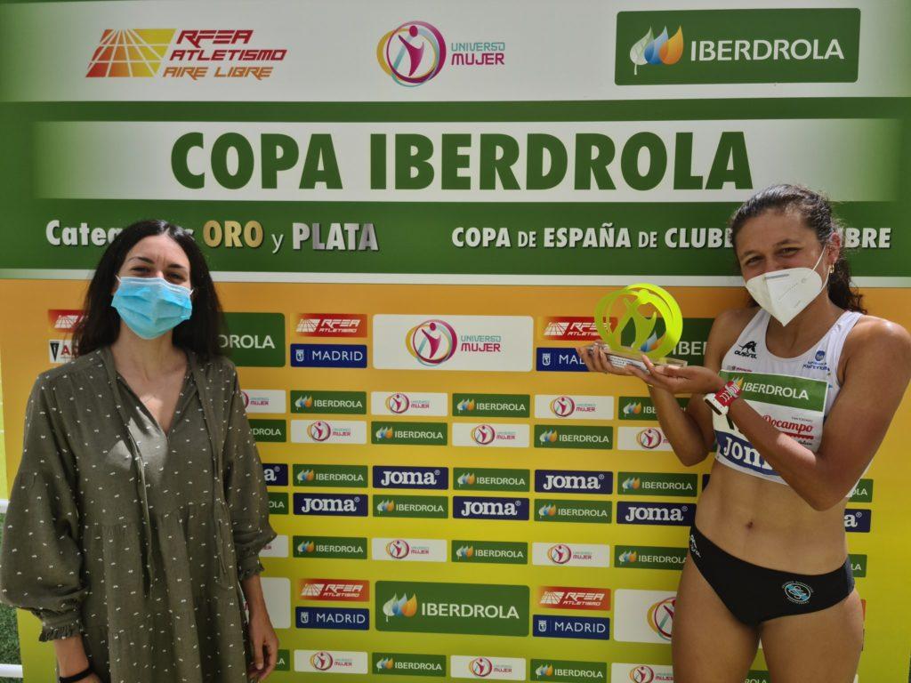 Joselyn Brea, da Sociedad Gimnástica de Pontevedra, MBA da Copa de España 2020 Prata ao aire libre / RFEA