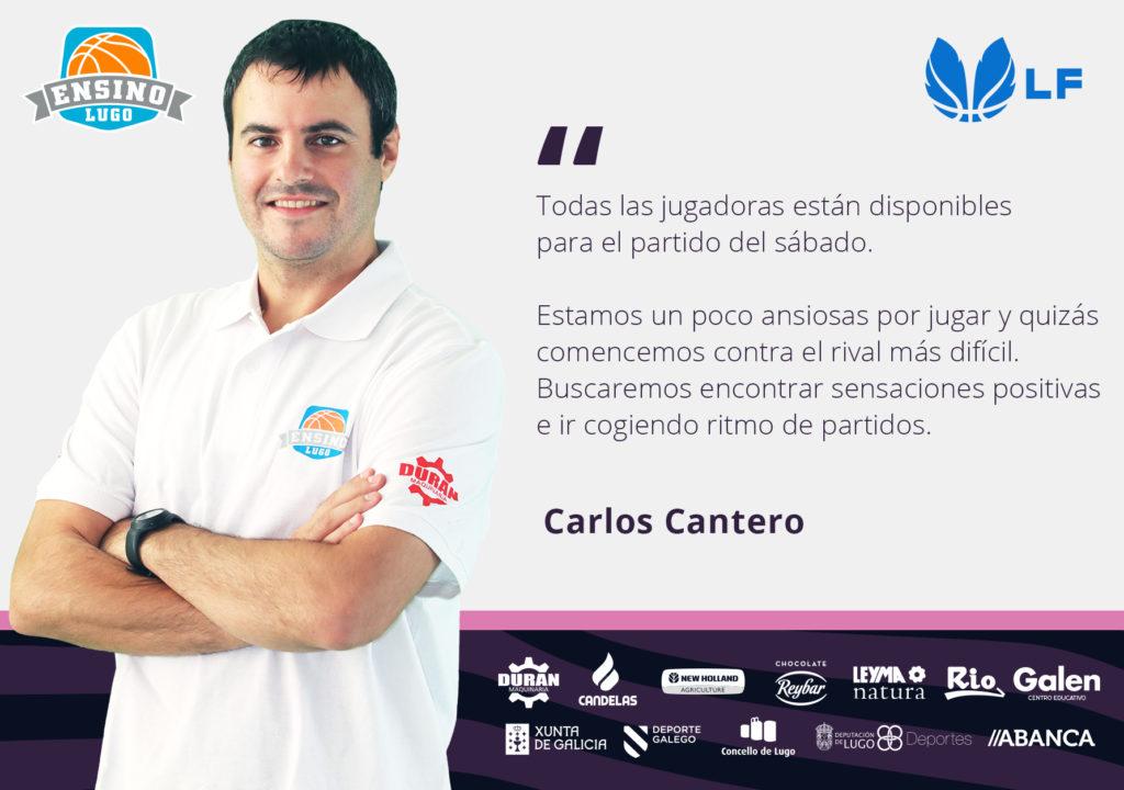Carlos Cantero, adestrador Durán Maquinaria Ensino / CB ENSINO