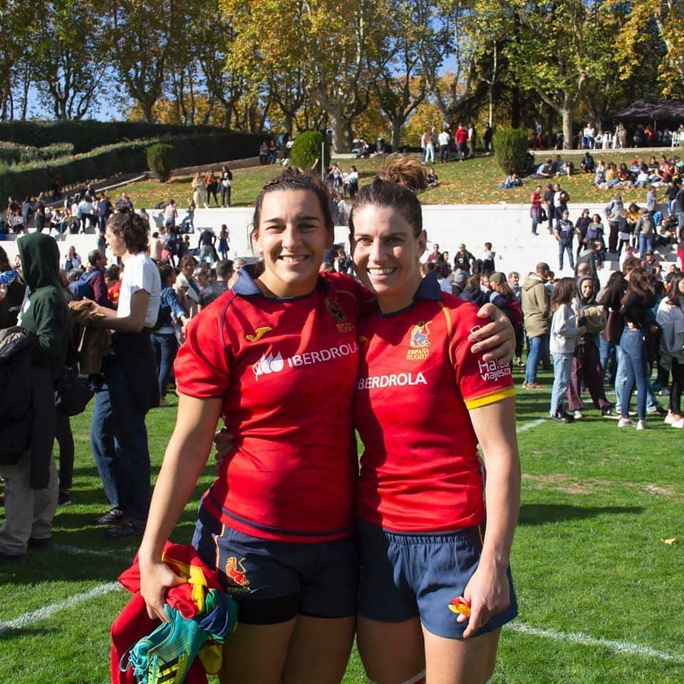 Mónica Castelo e Paula Medín 'Alevín', internacionais coa Selección Española de Rugby / CRAT