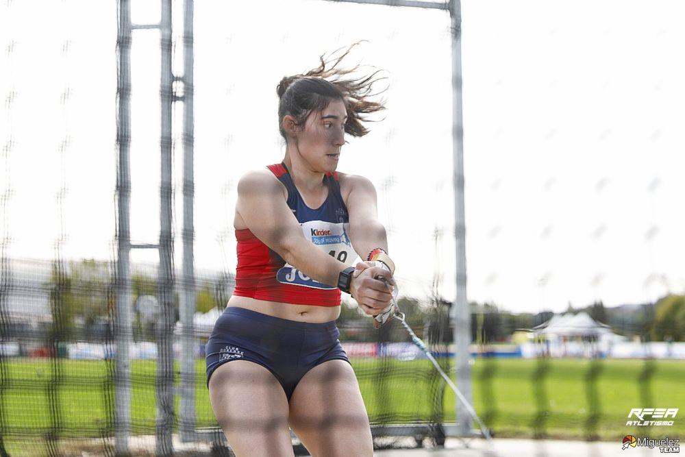 A lanzadora de martelo galega Blanca Pereira, campioa de España sub16 / RFEA