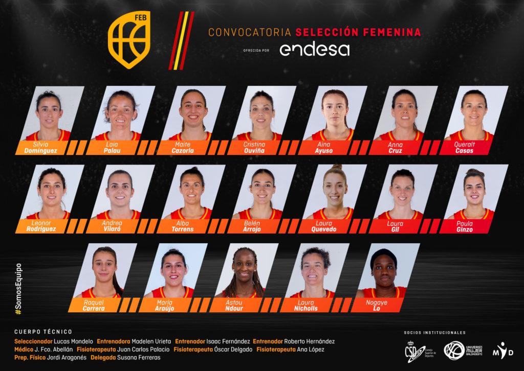 María Araujo e Raquel Carrera, convocadas coa Selección Española Absoluta de baloncesto / FEB
