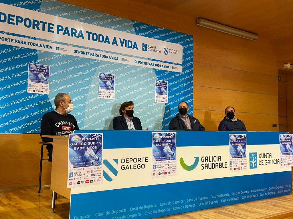 Presentación do Campionato Galego Sub15 de bádminton / XUNTA