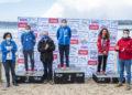 Categoría xuvenil K-1 Sprinter 15000 - 1ª Marta Mourelos, do Club CMDC Bregogán do Grove, 2ª Sandra Leira, do Club Deportivo Náutico de Miño e 3ª Eva Carballa, do Club Depornautic Arousa na I Regata Kayak Concello Miño / CONCELLO DE MIÑO