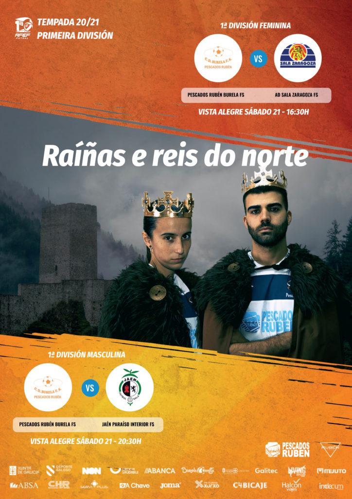 O futsal regresa a Vista Alegre coa Tarde Laranxa, o nacemento de Burela FS TV inclúe unha maratón televisiva de 7 horas de emisión / PRBFS