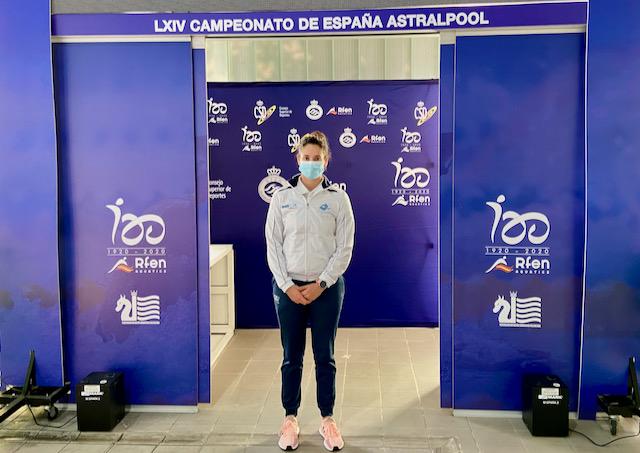 Alba Gómez, no Campionato de España de natación / CN ARTEIXO