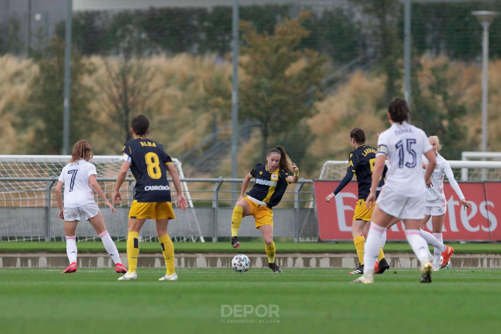 Athenea nun momento do Real Madrid vs Dépor ABANCA / RCD