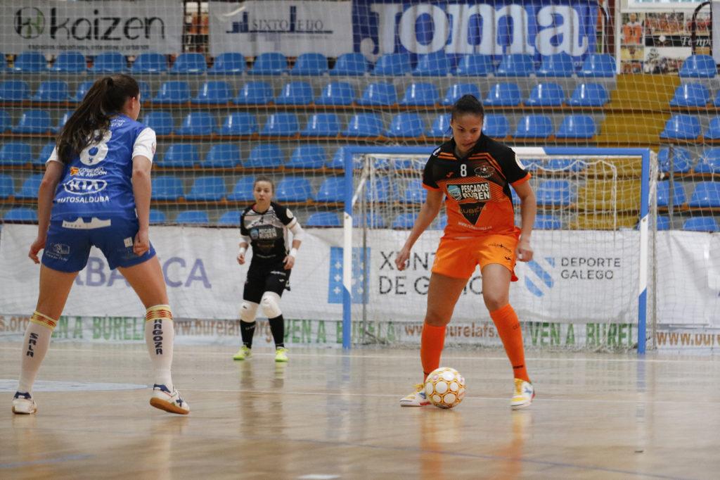 Cami nun momento do Burela vs Sala Zaragoza / PRBFS