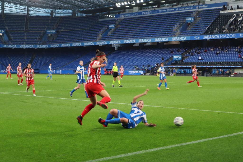 O Atleti foi moi superior durante todo o encontro / CARMEN G. MARIÑAS