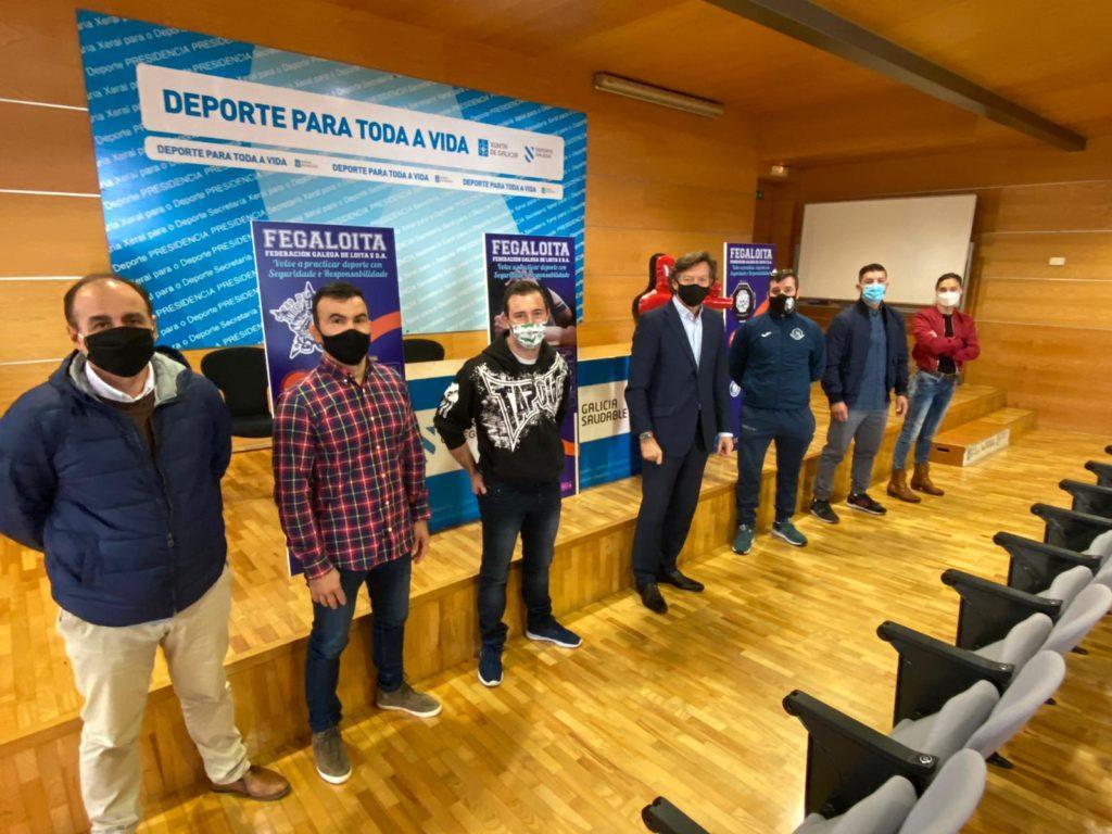 A Federación Galega de Loita e D.A. presentou a campaña #deportefederado #deporteseguro, coa entrega dos puntos hixiénicos e os bonecos de adestramento (Dummies), os clubs Galegos / FEGALOITA