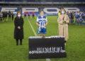O Dépor ABANCA B recolle trofeo de gañador do VIII Trofeo Teresa Herrera en Riazor coa presencia da alcaldesa da Coruña, Inés Rey, e a concelleira de Deportes, Mónica Martínez / CONCELLO DA CORUÑA
