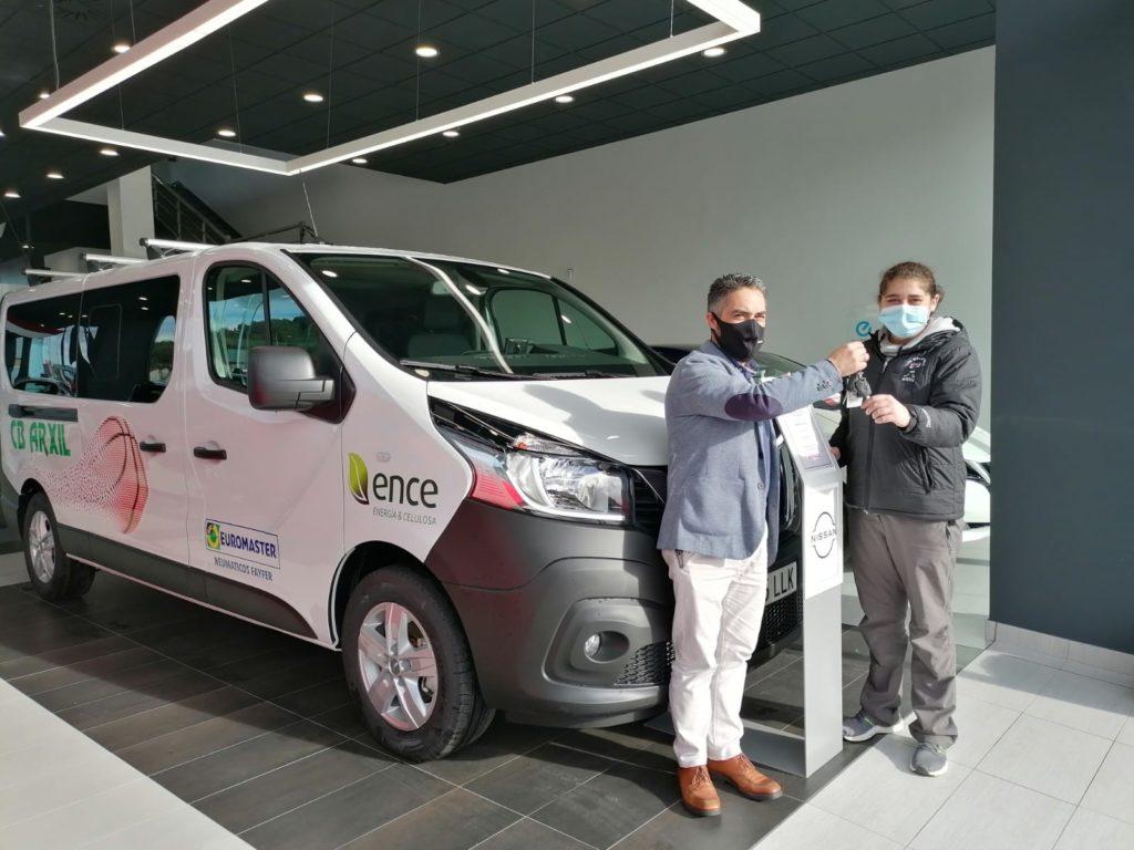 ENCE dona un vehículo ao CB Arxil para os seus desprazamentos / CB ARXIL