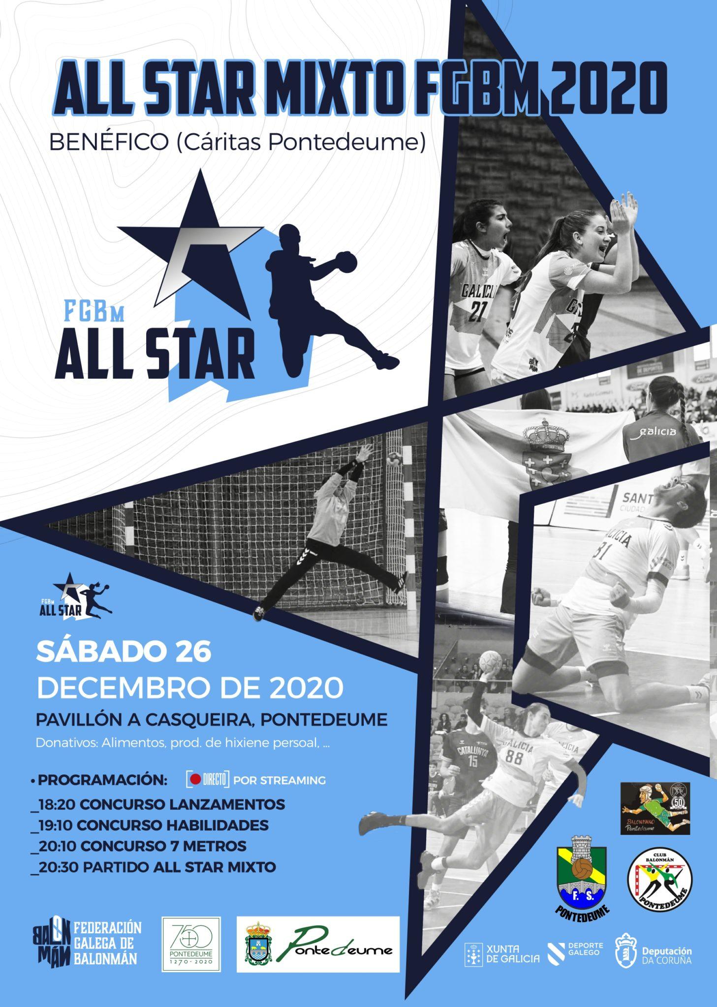O 26 de decembro Pontedeume acolle o All Star Mixto FGBm 2020 / FGBm