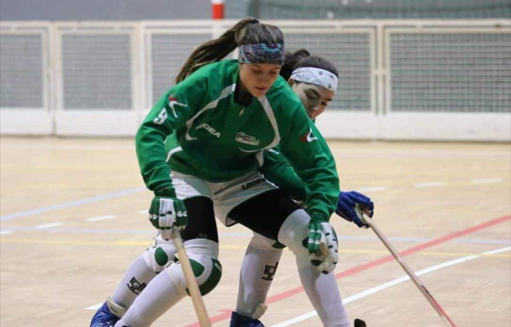 María Sanjurjo, xogadora da Selección de hoquei e do Telecable / MARÍA SANJURJO IG