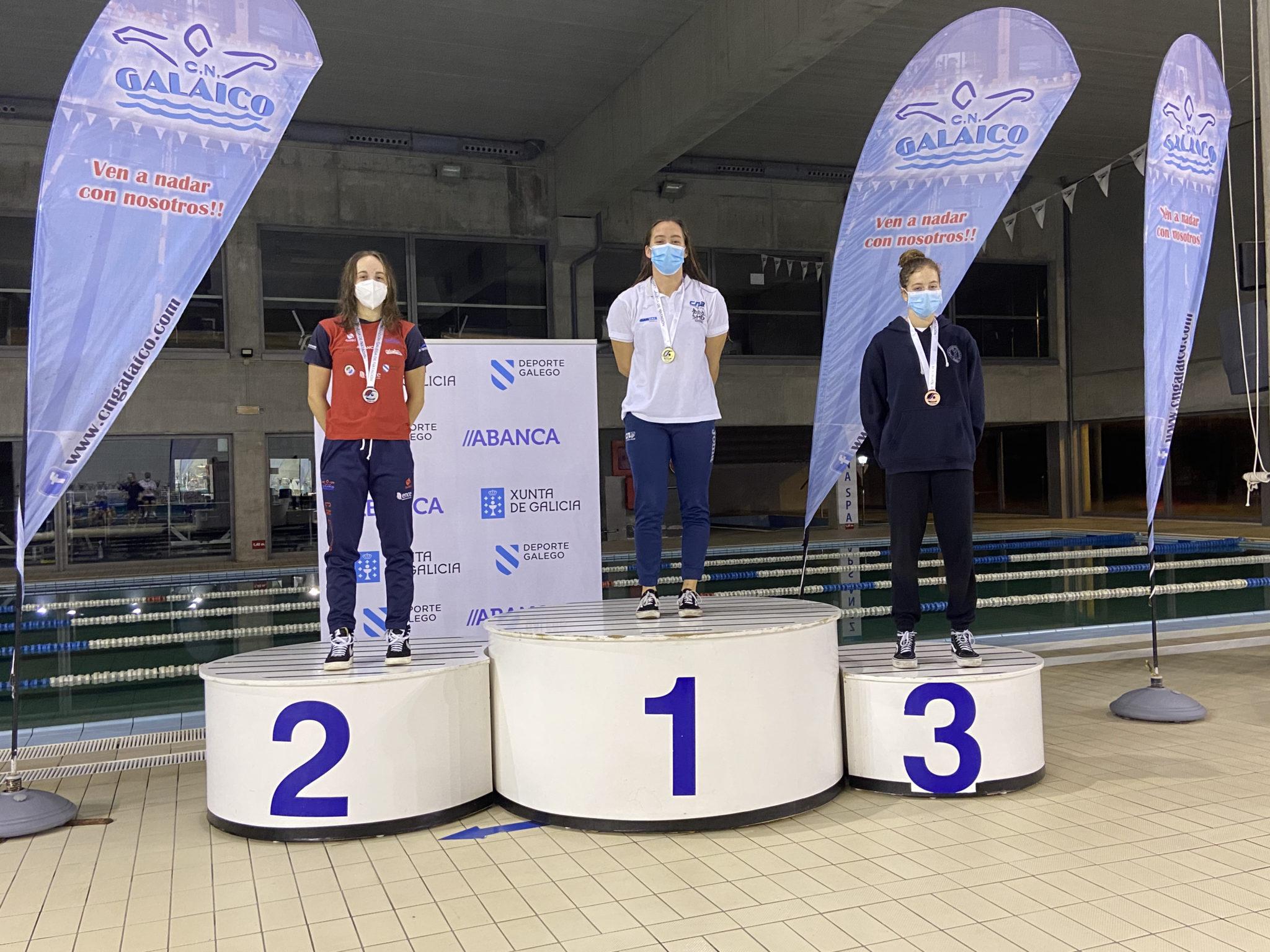 Paula Otero acadou a primeira posición no Campionato Galego de Longas distancias / CNA