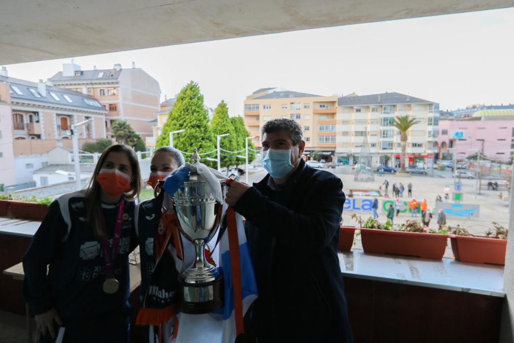 Recepción do Concello de Burela polo título da Copa da Raíña / PRBFSF