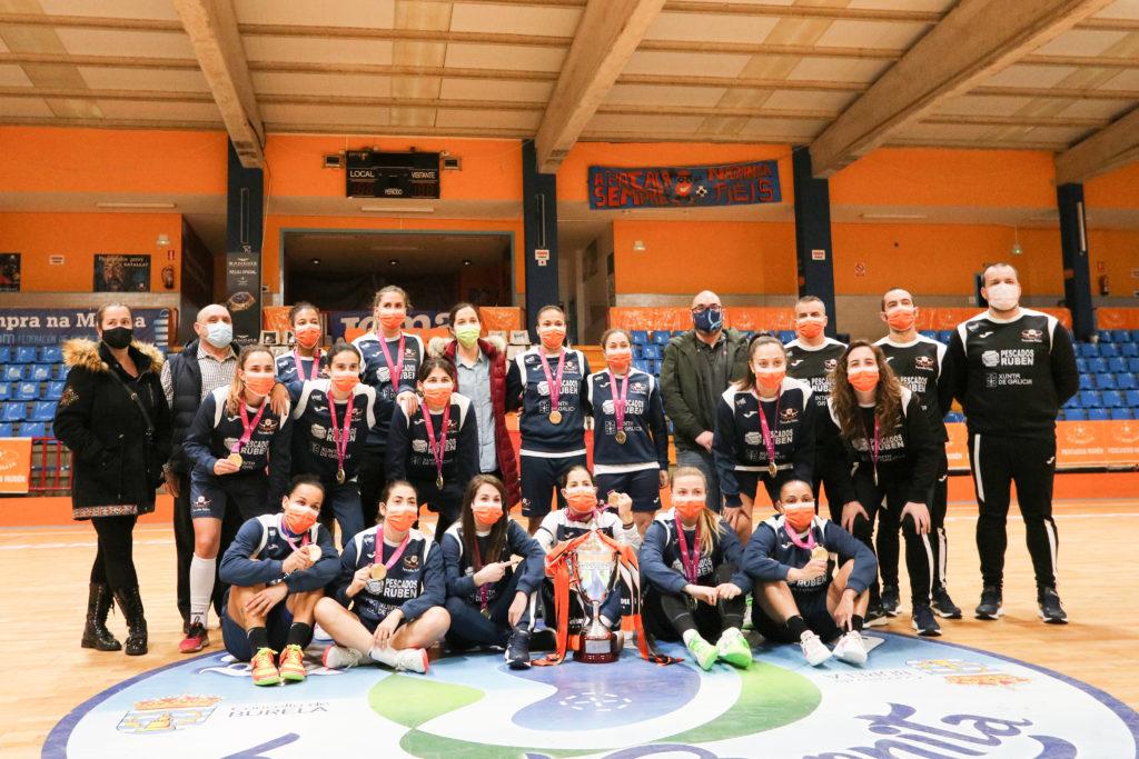 Visita da Deputación de Lugo a Burela polo título da Copa da Raíña / PRBFSF
