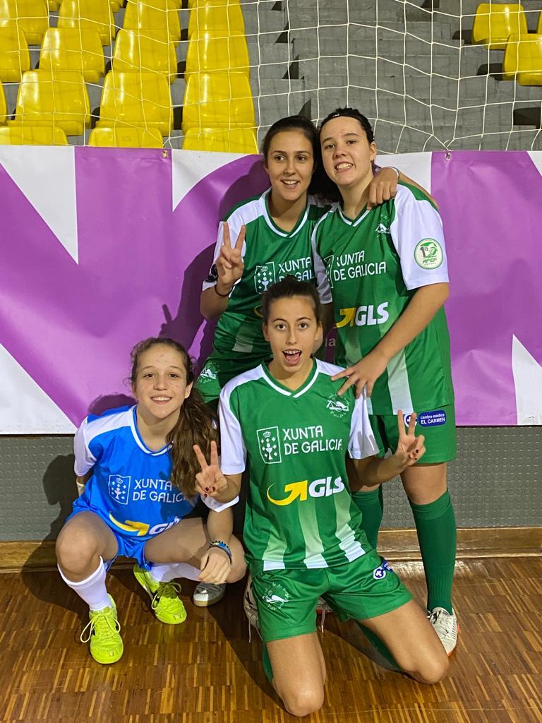 Catro xogadoras de 15 anos debutaron esta tempada co Cidade de As Burgas / MANOLO CODESO