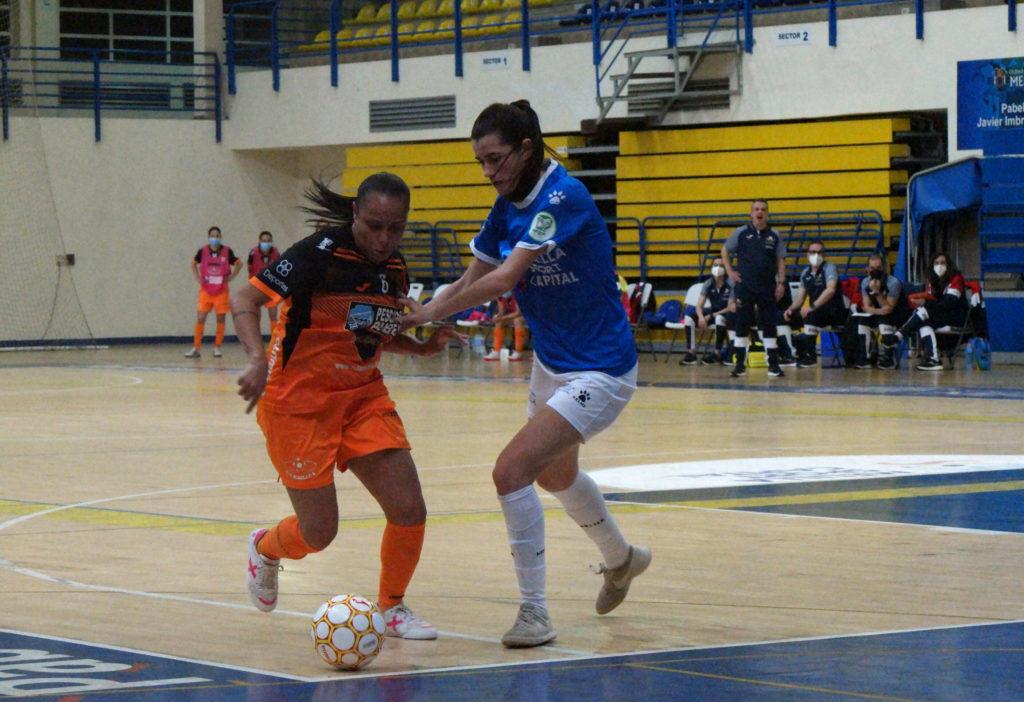 Cilene, nun lance do partido Melilla Sport Capital Torreblanca vs Pescados Rubén Burela / MSC TORREBLANCA