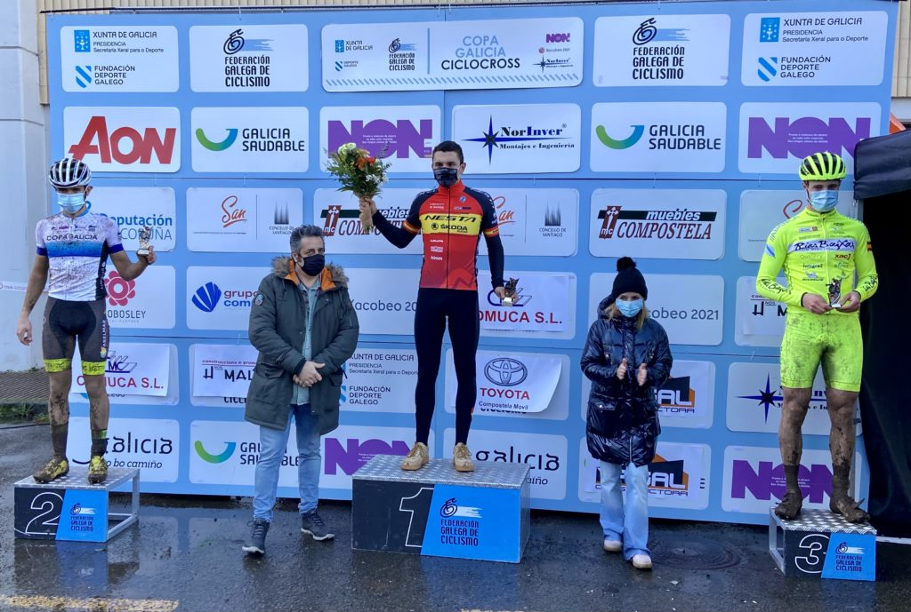 XIX edición do ciclocrós Cidade de Santiago, Iván Feijóo no podio / FGC