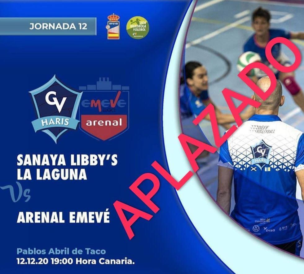 Adiado o CV Haris La Laguna vs CV Arenal Emevé