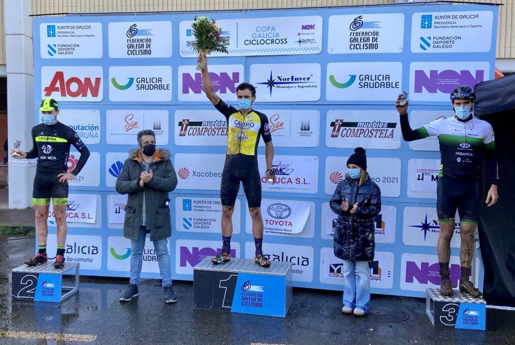 XIX edición do ciclocrós Cidade de Santiago, podio elite / FGC