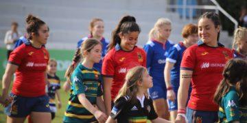 #YoSeréLeona, a campaña na que as leonas da Selección Española Feminina de Rugby amadriñan clubs para fomentar a base / FER