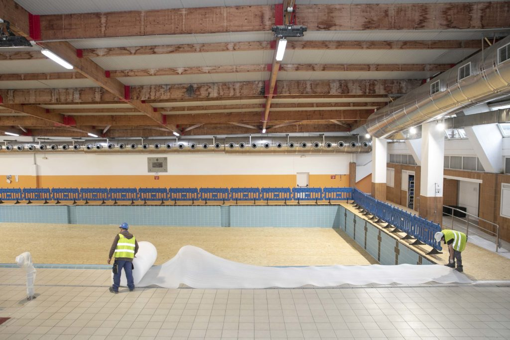 Comezan as obras de reforma da cuberta da piscina de Riazor / CONCELLO DA CORUÑA