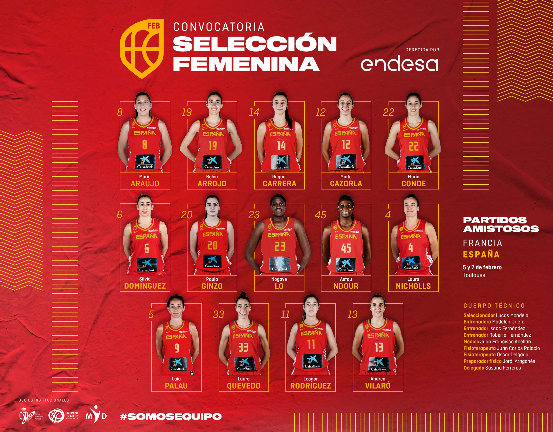 Convocadas coa Selección Española (Ginzo, Araújo e Carrera) / FEB