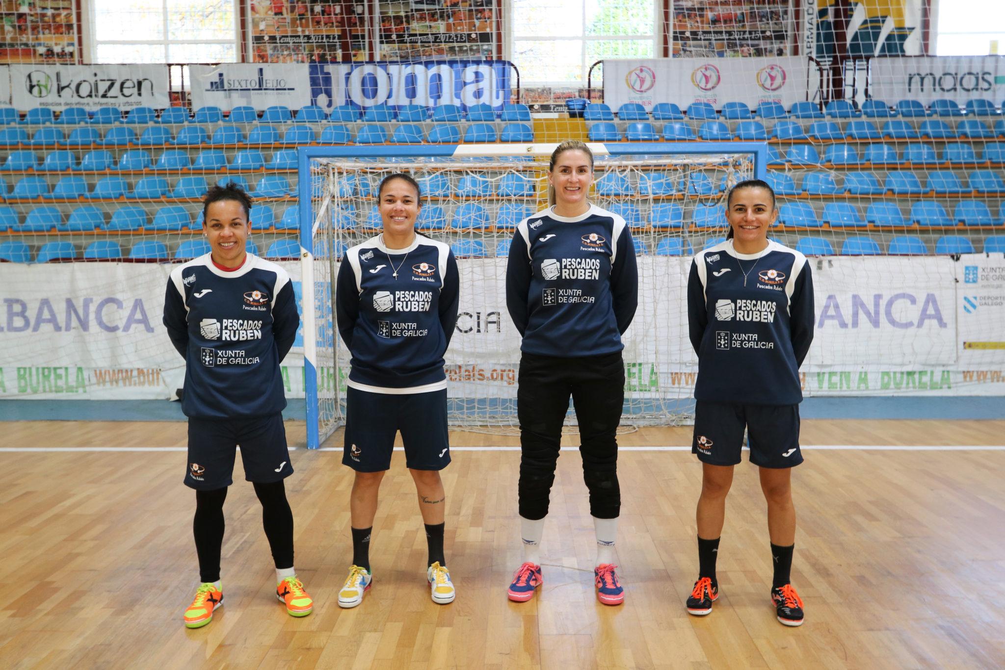 Futbolistas do Burela convocadas pola Selección de Brasil: Dany, Cami, Jozi e Jane / BURELA FS
