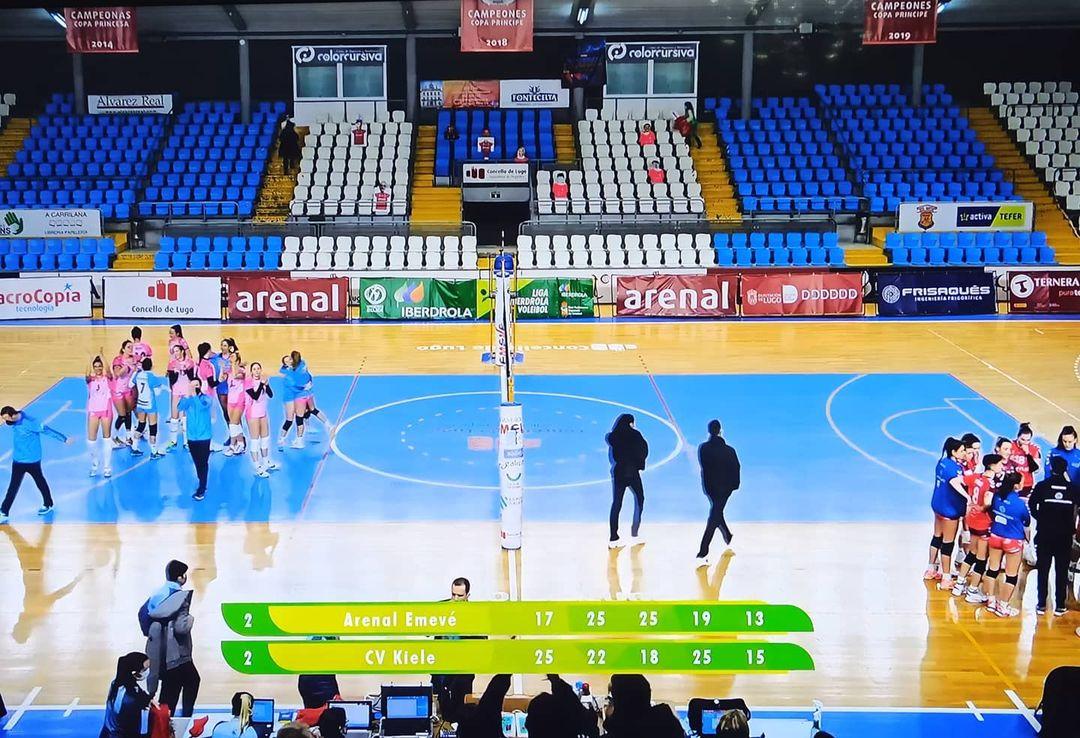 Imaxe final do partido Emevé vs Kiele / CV ARENAL EMEVÉ IG