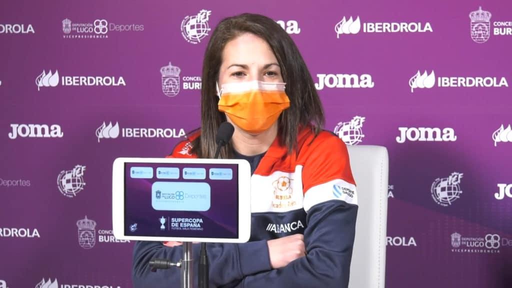 Peque, capitá do Burela, na rolda de prensa da Supercopa / RFEF